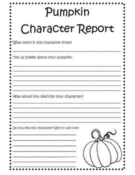 Charcter Pumpkin Report