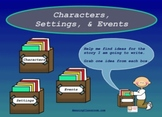 Character Setting and Events Interactive Writing Smart Notebook Activity