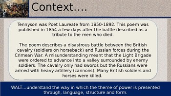 Charge of The Light Brigade War Poetry