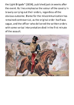 Charge of the Light Brigade Handout