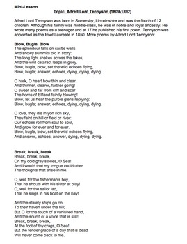Charge of the Light Brigade by Alfred Lord Tennyson-Lessons, Analysis, & Writing