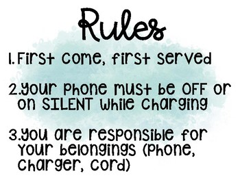 Charging Station Rules