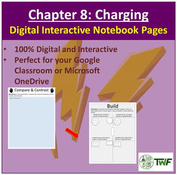 Charging by Friction, Contact, and Induction- Digital Interactive Notebook Pages