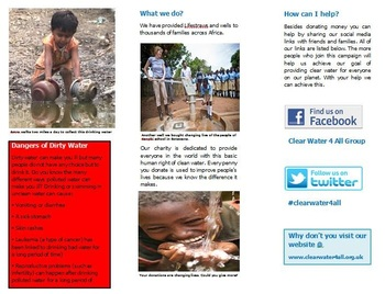 Charity Leaflet (3 ½ weeks) inspired by The Selfish Giant by Oscar Wilde
