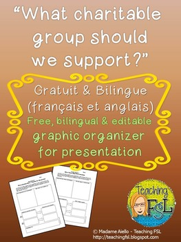 Charity Proposal Bilingual Graphic Organizer