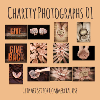 Charity Theme Photo Set Clip Art Set for Commercial Use