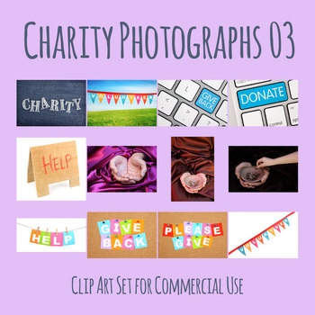 Charity Theme Photos 2 Photographic Clip Art Set Commercial Use