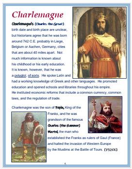 Charlemagne + Assessments