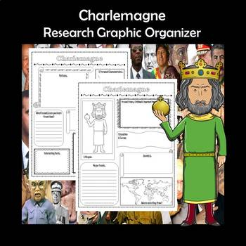 Charlemagne Biography Research Graphic Organizer