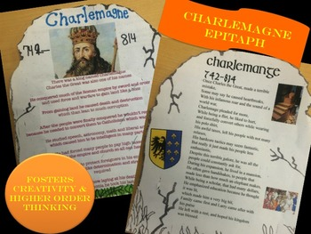 Charlemagne Epitaph Assessment with Primary Source Handout