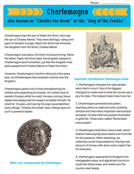 Charlemagne: His Empire, Accomplishments and Reign {no prep}