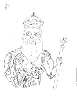 Charlemagne Latin King Drawing