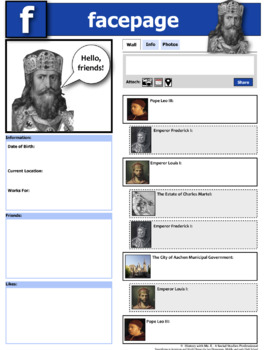 """Charlemagne and Social Media?  Creating a """"profile"""" for this legendary king!"""