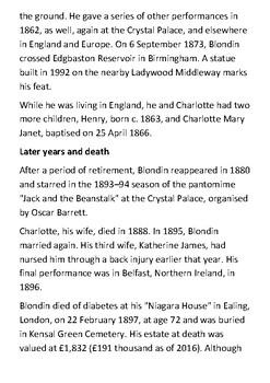 Charles Blondin Handout