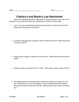 charles boyle 39 s law worksheet by leah 39 s chemistry corner tpt. Black Bedroom Furniture Sets. Home Design Ideas
