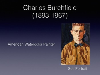 Charles Burchfield, A Great American Painter