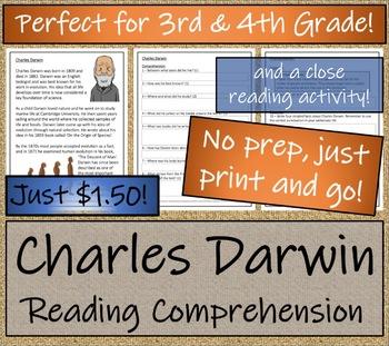 Charles Darwin - 3rd Grade & 4th Grade Close Reading & Biography Bundle