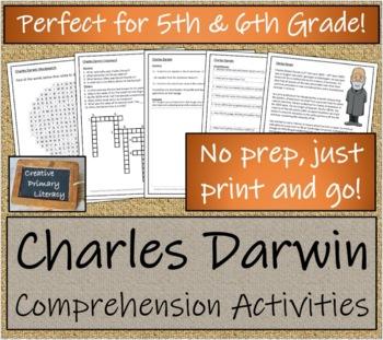 Charles Darwin - 5th Grade & 6th Grade Close Reading & Biography Bundle
