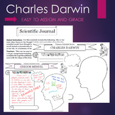 Charles Darwin - Evolution - Biography Graphic Organizer Interactive Journal