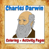 Charles Darwin Coloring and Activity Book Pages - Good for
