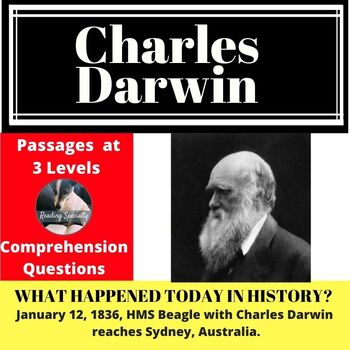 Charles Darwin Differentiated Reading Passage January 12