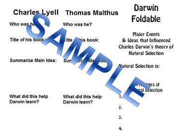 Charles Darwin Foldable