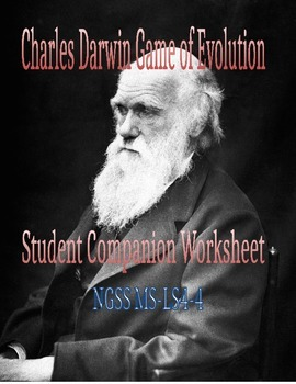 Charles Darwin Game of Evolution Student Worksheet - NGSS