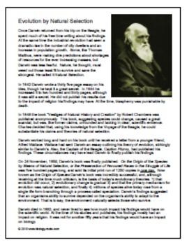 Evolution: Charles Darwin Interview