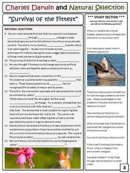 Charles Darwin Natural Selection - Lesson Plan