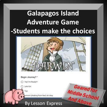 Charles Darwin Natural Selection Activity -- Student Choice Adventure Game