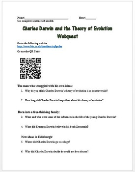 Charles Darwin and the Theory of Evolution Webquest