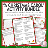 Charles Dickens A Christmas Carol Crossword Word Search Quiz Essay Activities