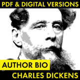 Charles Dickens Author Study Worksheet, Easy Dickens Biogr