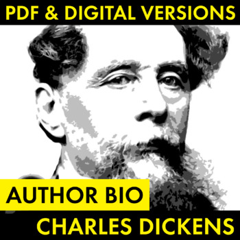 Charles Dickens Author Study Worksheet, Easy Biography Act