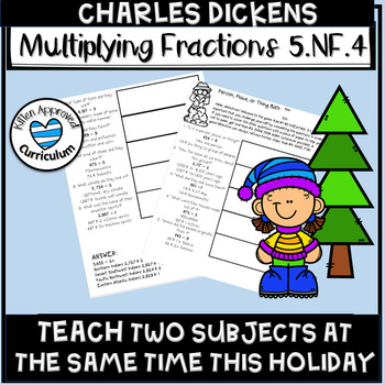 Charles Dickens Activity Multiply Fractions Math Enrichment Christmas 5th