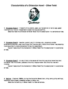 Charles Dickens -- Characteristics of a Dickensian novel (focus on Oliver Twist)