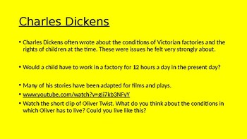 Charles Dickens PowerPoint assembly
