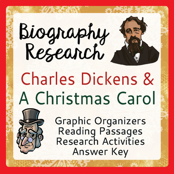 Charles Dickens and A Christmas Carol - 5 Graphic Organizers, 2 ELA Activities