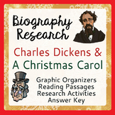 Charles Dickens and A Christmas Carol 5 Graphic Organizers and 2 ELA Activities