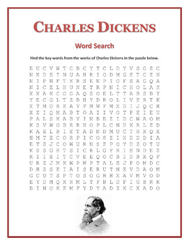 Charles Dickens word search puzzle