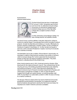 Charles Drew and Blood Banks - Cued Retell