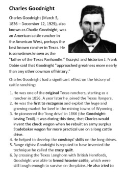 Charles Goodnight Handout
