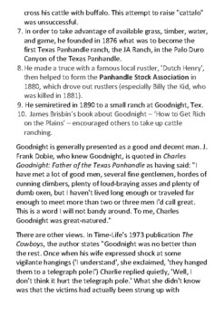 Charles Goodnight Handout