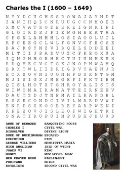 Charles I Word Search