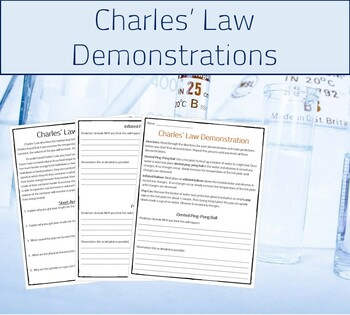 Charles Law Experiment (Pressure,Temp., & Volume)