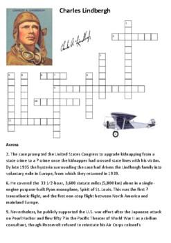 Charles Lindbergh Crossword