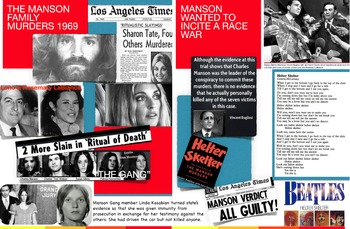 Manson Family ~ FREE POSTER ~ Murder Trial ~ Sharon Tate