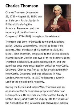 Charles Thomson Handout