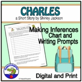 """""""Charles"""" by Shirley Jackson Making Inferences Chart and Writing Prompts"""