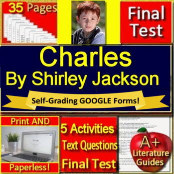 image regarding Printable Guides named Charles by way of Shirley Jackson Try out and Review Marketing consultant - Printable